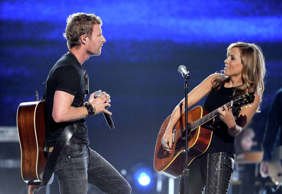 LAS VEGAS, NV - APRIL 06:  Singer/songwriters Dierks Bentley (L) and Sheryl Crow perform onstage during the 49th Annual Academy Of Country Music Awards at the MGM Grand Garden Arena on April 6, 2014 in Las Vegas, Nevada. Photo: Ethan Miller, Getty Images / 2014 Getty Images