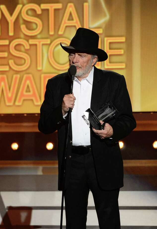 LAS VEGAS, NV - APRIL 06:  Singer/songwriter Merle Haggard accepts the ACM Crystal Milestone Award onstage during the 49th Annual Academy Of Country Music Awards at the MGM Grand Garden Arena on April 6, 2014 in Las Vegas, Nevada. Photo: Ethan Miller, Getty Images / 2014 Getty Images