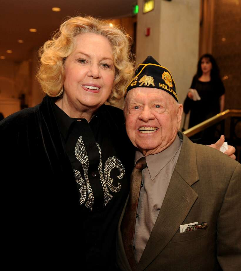 "Actor Mickey Rooney (R) and his wife Jan arrive at AARP Magazine's ""10th Annual Movies For Grownups"" Awards Gala at the Beverly Wilshire Hotel on February 7, 2011 in Beverly Hills, California. Actor Mickey Rooney died Sunday, April 6, 2014, at age 93. Photo: Kevin Winter, Getty Images"