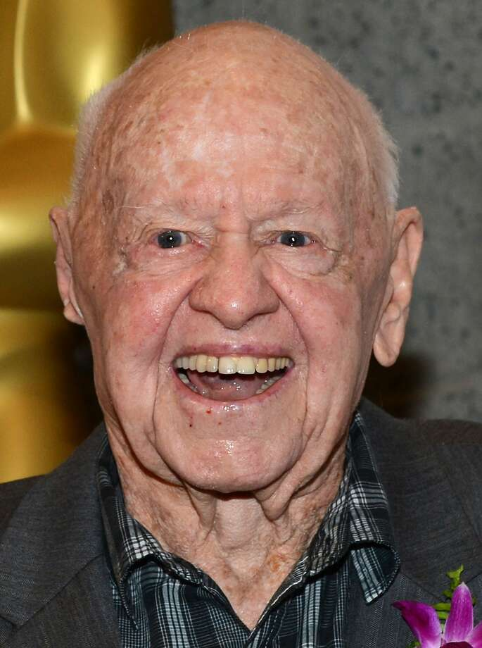 """Actor Mickey Rooney arrives at The Academy of Motion Pictures Arts and Science's """"The Last 70mm  Film Festival"""" Screening Of """"It's A Mad, Mad, Mad, Mad World"""" at AMPAS Samuel Goldwyn Theater on July 9, 2012 in Beverly Hills, California.Actor Mickey Rooney died Sunday, April 6, 2014, at age 93. Photo: Michael Buckner, Getty Images"""
