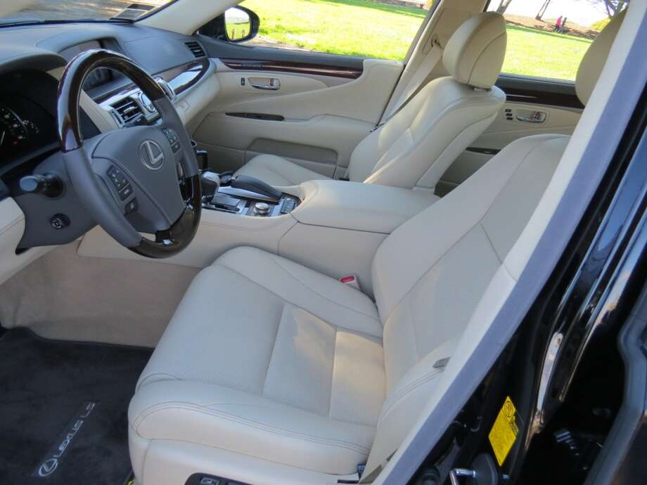 The front seats are adjustable a zillion ways and are heated and ventilated.