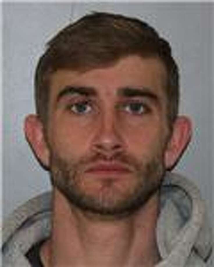 Tyler M. Swart, 29, of Troy was charged with grand larceny on Saturday, April 5, 2014 after State Police said he stole a purse from a supermarket shopper and then hid in the trunk of his girlfriend's car. (State Police)