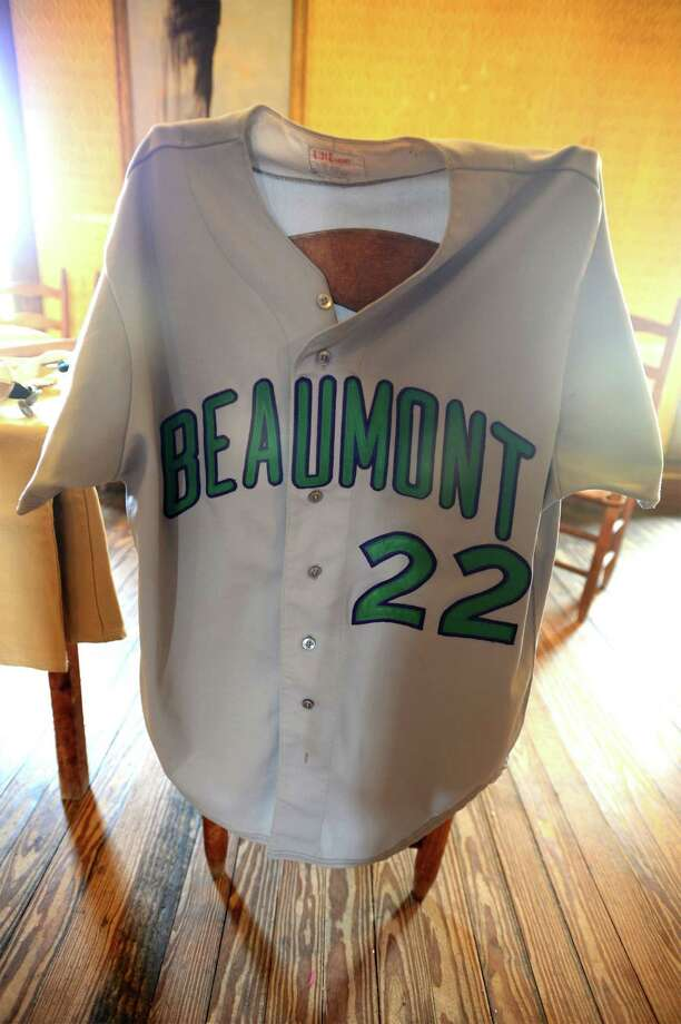 An item at an antique baseball exhibit at Gladys City. Photo taken Saturday, April 05, 2014 Guiseppe Barranco/@spotnewsshooter Photo: Guiseppe Barranco, Photo Editor