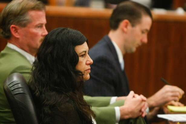 Ana Trujillo appears in court Monday, April 7, 2014. Trujillo is accused of killing her boyfriend Alf Stefan Andersson with a stiletto shoe.