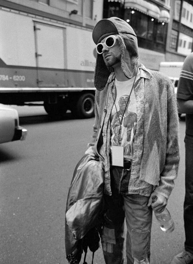Kurt Cobain on the streets of Manhattan in November 1993.