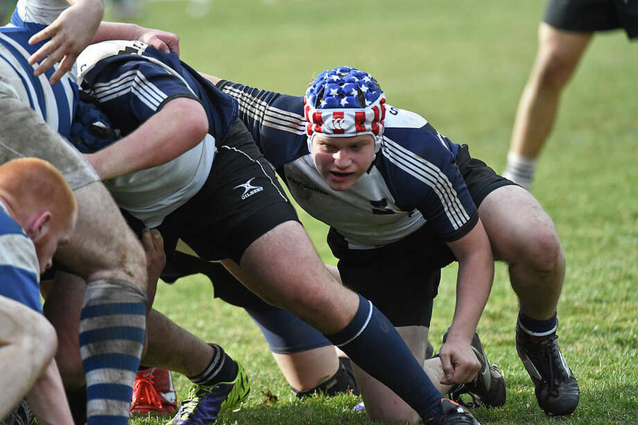 Staples senior Adam Kleinberg scored a try and took home Man of the Match honors in a 34-7 win over Darien last Thursday. Photo: Contributed Photo / Westport News Contributed