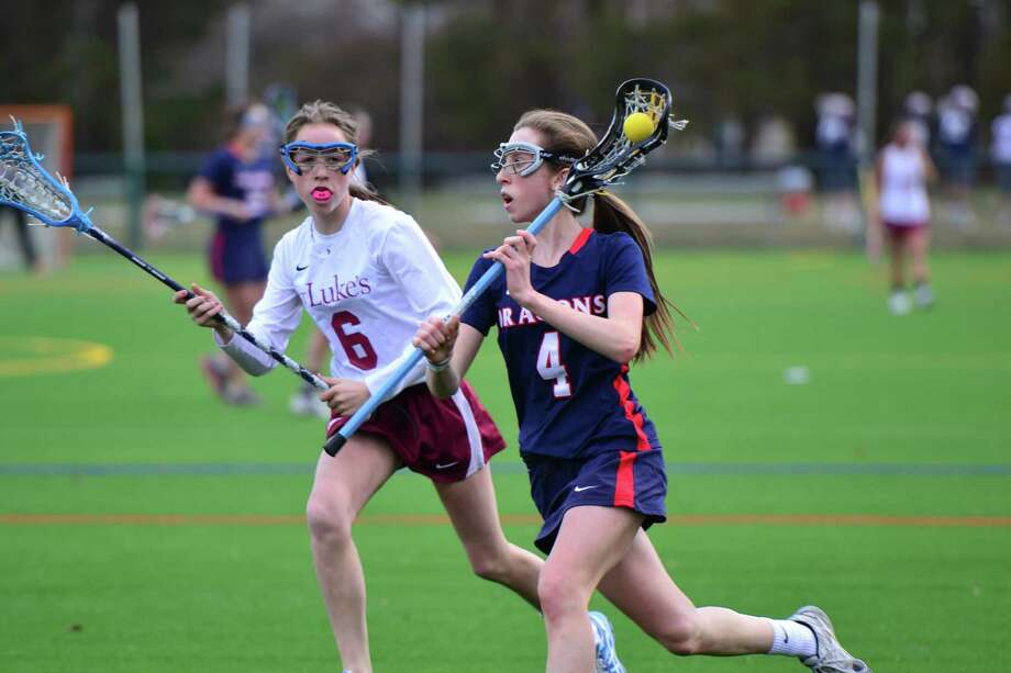 GFA freshman Kate Paliotta scored three goals in a 16-5 win over St. Luke's April 1. Photo: Contributed Photo / Westport News Contributed