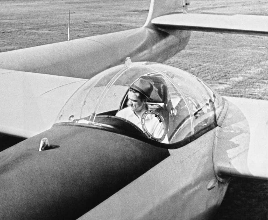 Howard Hughes sits in the cockpit of his new XF-11 plane, built in conjunction with the Army Air Material Command. It crashed on its flight, and Hughes was taken to a hospital with 3rd degree burns. It is reportedly one of the world's fastest planes and can attain speeds of over 400 mile per hour, Culver City, California, July 7, 1946. Photo: Underwood Archives, Getty Images / © Underwood Archives
