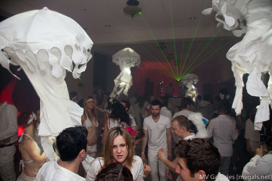 The party includes art installations and theatrical demonstrations. Photo: Courtesy Opulent Temple