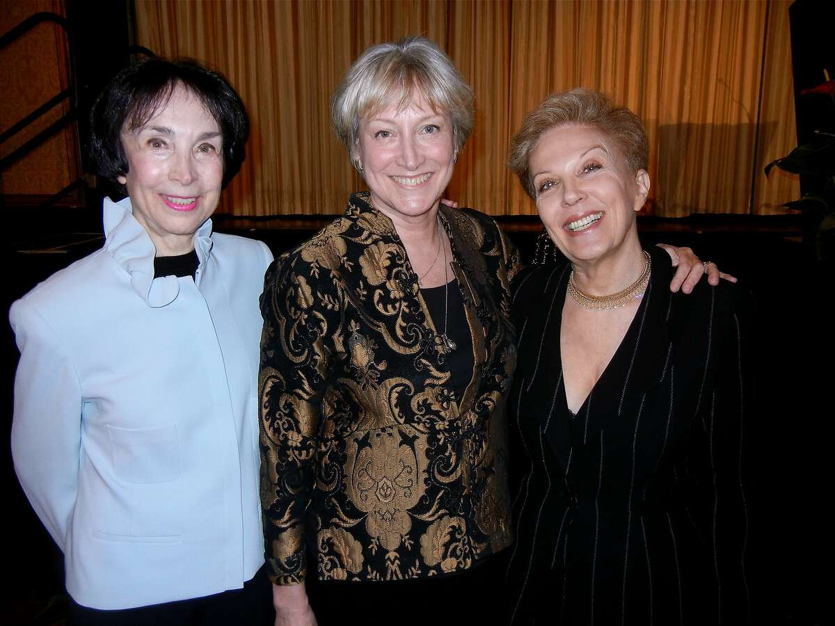 Journalist Merla Zellerbach (at left) with Compassion & Choices President Barbara Coombs Lee and advice columnist Jeanne Philips (a.k.a.