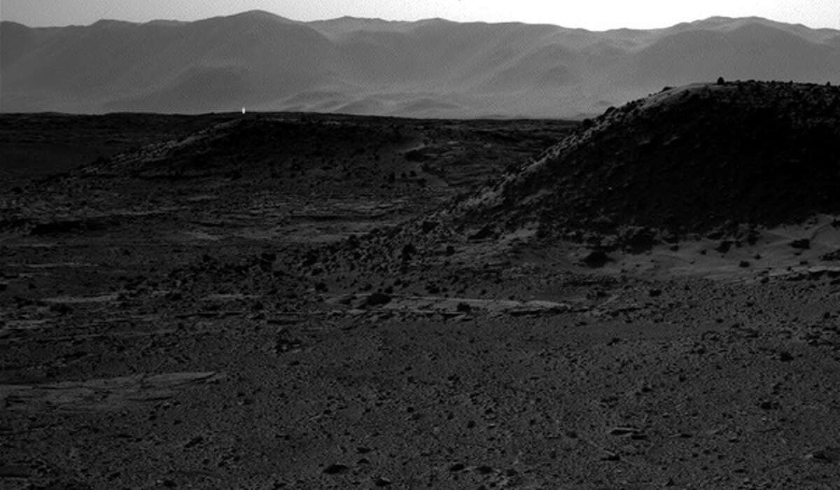 A NASA camera on Mars has captured what appears to be artificial light emanating outward from the planet's surface.
