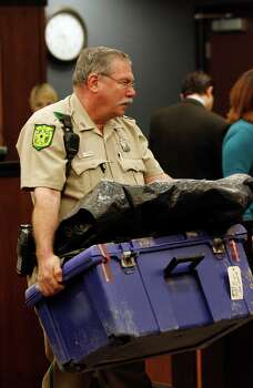"""'Baby Grace' shocks Galveston  A Galveston County sheriff's deputy brings in the plastic storage box in which Riley Ann """"Baby Grace"""" Sawyer's decomposed body was found in 2007. Her mother, Kimberly Dawn Trenor, and stepfather, Royce Clyde Zeigler II, were convicted in 2009.  • From 'World of Warcraft' to murder trial Photo: Jennifer Reynolds, Houston Chronicle / pool the Galveston County Daily"""