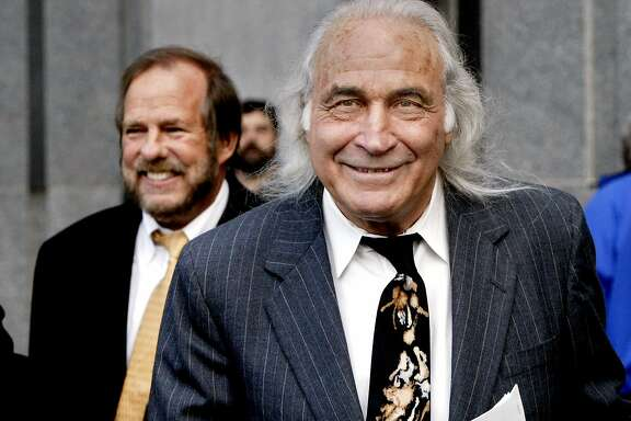 balco_043_db.JPG Tony Serra, attorney for personal trainer for SF Giants' Barry Bonds, Greg Anderson, walks outside the San Francisco Federal Building. Anderson is one of four men charged in a federal case involving distribution of steriods through company called BALCO. Attorney Robert Holley is back left. Event on 2/27/04 in San Francisco. Darryl Bush / The Chronicle