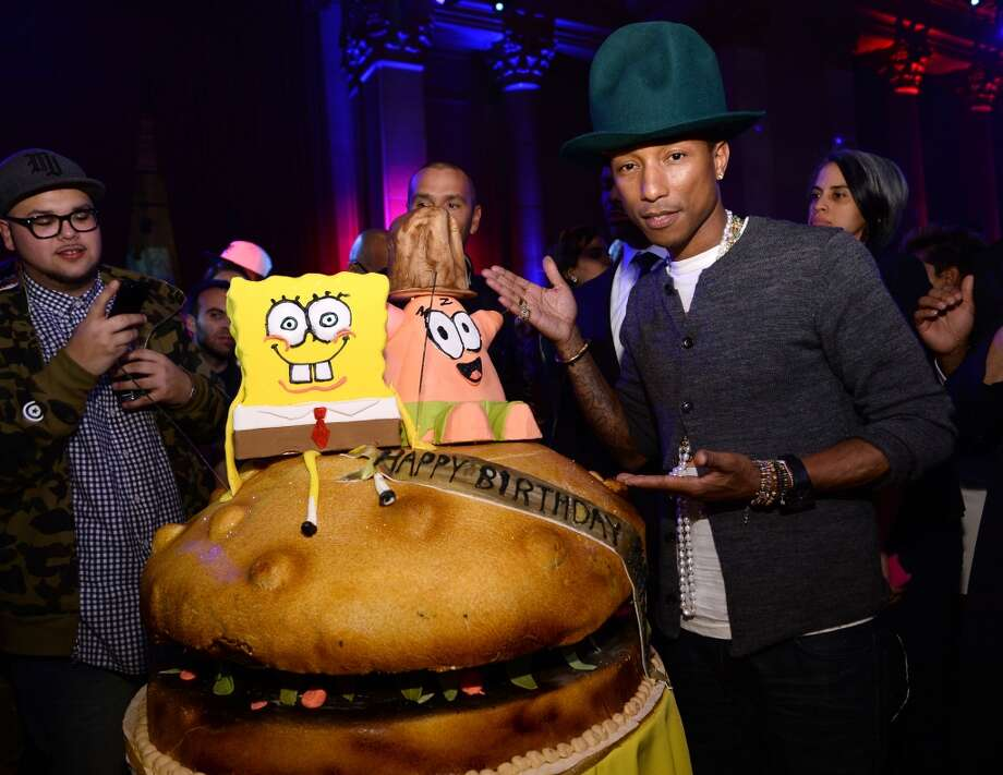 Pharrell Williams attends the SpongeBob SquarePants themed, 41st birthday party for Pharrell Williams at Bikini Bottom at Cipriani Wall Street on April 4, 2014 in New York City. Photo: Dimitrios Kambouris, Getty Images For Nickelodeon