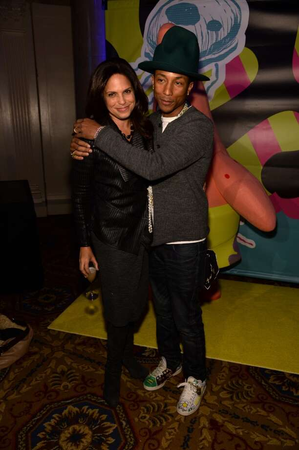 Journalist Soledad O'Brien and Pharrell Williams attend the SpongeBob SquarePants themed, 41st birthday party for Pharrell Williams  at Bikini Bottom at Cipriani Wall Street on April 4, 2014 in New York City. Photo: Dimitrios Kambouris, Getty Images For Nickelodeon