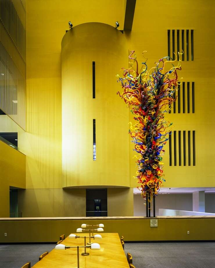 Dale Chihuly sculpture in the Main Library, San Antonio. Photo by Robert Dawson