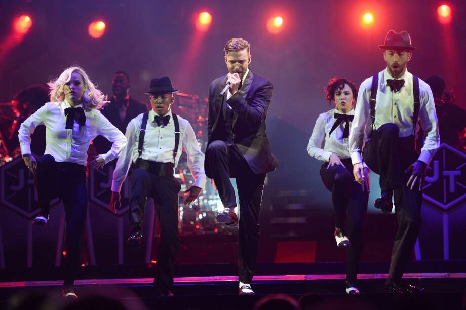 LONDON, ENGLAND - APRIL 01: (EXCLUSIVE ACCESS) Justin Timberlake performs on The 20 /20 Experience World Tour at The O2 Arena on April 1, 2014 in London, England. (Photo by Dave J Hogan/Getty Images) Photo: Getty Images