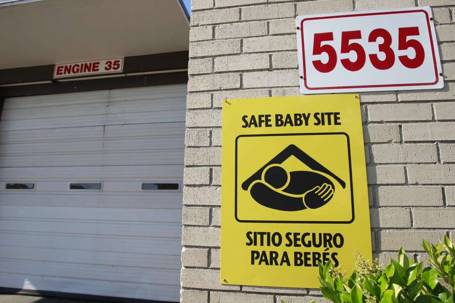 Someone dropped off a baby at Fire Station 35, on Van Fleet, on Monday, April 30, 2018. The person also left personal belongings with the infant. Because of the baby's age, the dropoff may not qualify for Baby Moses law protection. Photo: Melissa Phillip, Chronicle