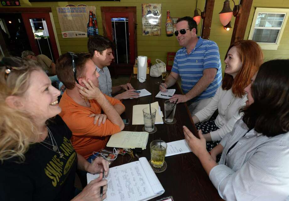 Committee members for Beaumont Pride meet Monday to prepare for the areas first gay pride event that will be held on June 21. Members say businesses have donated funds to help bolster the event. Photo taken Monday, April 07, 2014 Guiseppe Barranco/@spotnewsshooter Photo: Guiseppe Barranco, Photo Editor