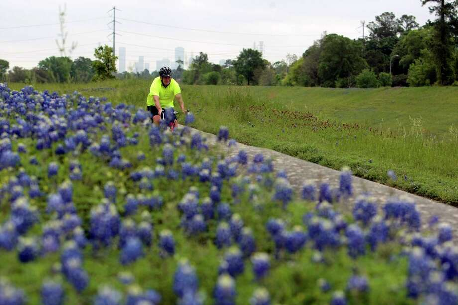 A bicyclist travels last week down the White Oak/T.C. Jester trail, which had been closed for more than two years. With the section reopened, cyclists and runners have about 7.5 miles of uninterrupted trail. Photo: Billy Smith II, Staff / © 2014 Houston Chronicle