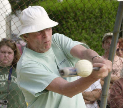 "In 1985, George Plimpton wrote a story for sports illustrated about an up and coming pitcher named Sidd Finch. Supposedly Finch could pitch over 160 mph and had never played a game of baseball before. Plimpton wrote that Sidd learned to ""the art of the pitch"" from Tibetan monks. Sports Illustrated admitted the story was a hoax on April 15th, but Plimpton had actually left a clue in the story. The first letter of each word in the subhead spelt ""Happy April Fools Day."" Photo: George Plimpton connects with the baseball for a hit (Photo by RJ Capak/WireImage)"