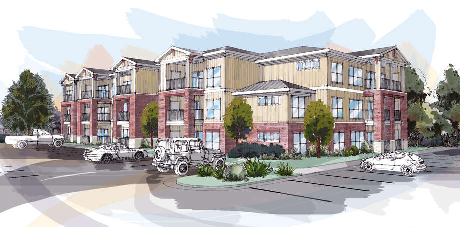 A rendering of the new Parkside Place apartments. Photo: Courtesy Of Oden Hughes