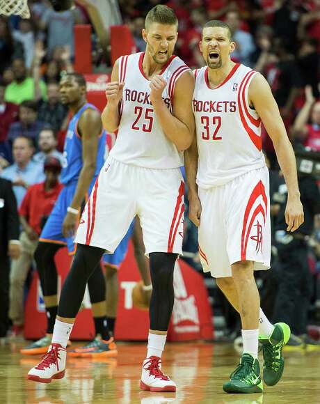 Guard Francisco Garcia (32) is enjoying the run to the playoffs with Chandler Parsons and Rockets teammates. Photo: Smiley N. Pool, Staff / © 2014  Houston Chronicle