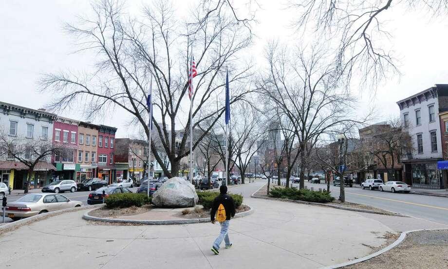 A view of Townsend Park on Wednesday, April 2, 2014, in Albany, N.Y. (Paul Buckowski / Times Union) Photo: Paul Buckowski / 00026348A