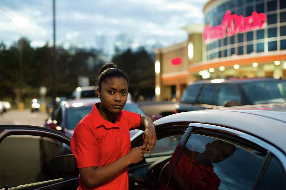Brittany Dixon, a supermarket cashier and college student, says a tax preparer charged her nearly $400, about a quarter of the total of her tax refund, in fees. Photo: BOB MILLER, STR / NYTNS