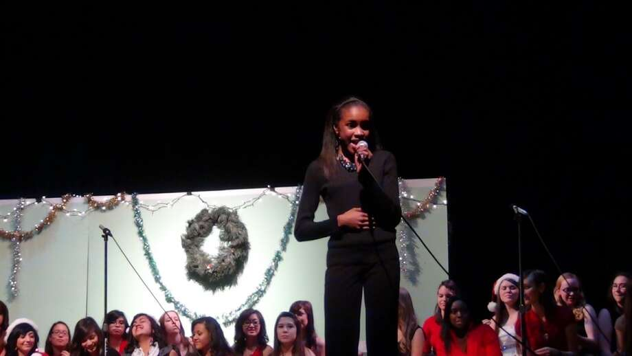 Deja Hall singing in a school concert. Photo: Courtesy Photo