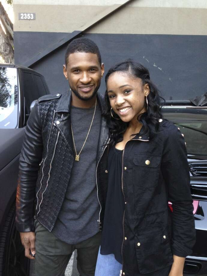 "Deja Hall with Usher, one of her strong supporters on ""The Voice."" Photo: Courtesy Photo"