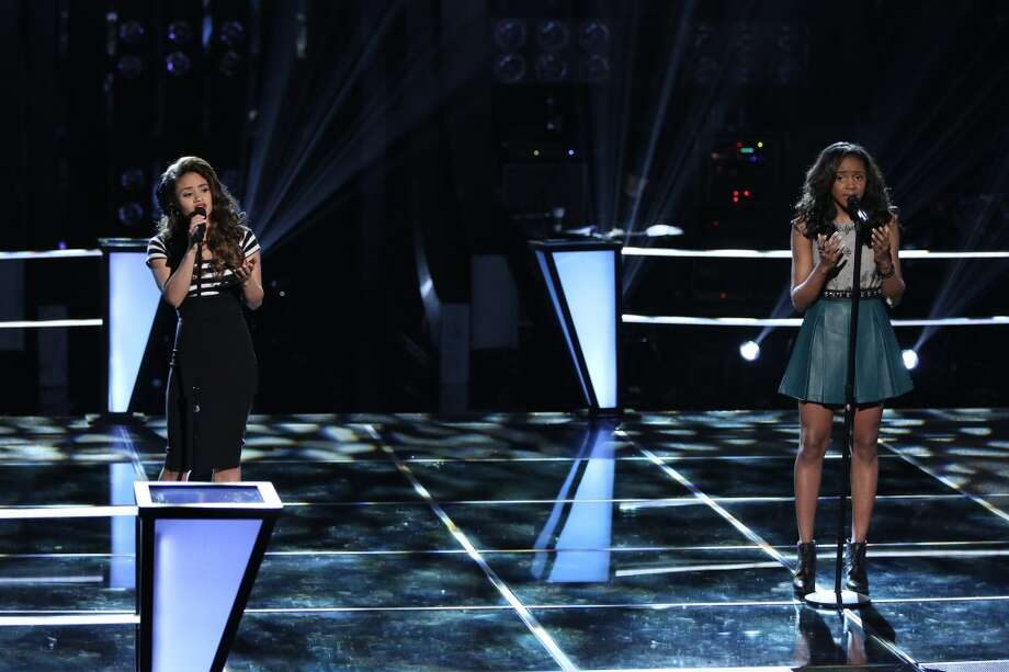 "Ddendyl Hoyt and Deja Hall compete on ""The Voice."" Photo: Tyler Golden/NBC, NBCU Photo Bank Via Getty Images"
