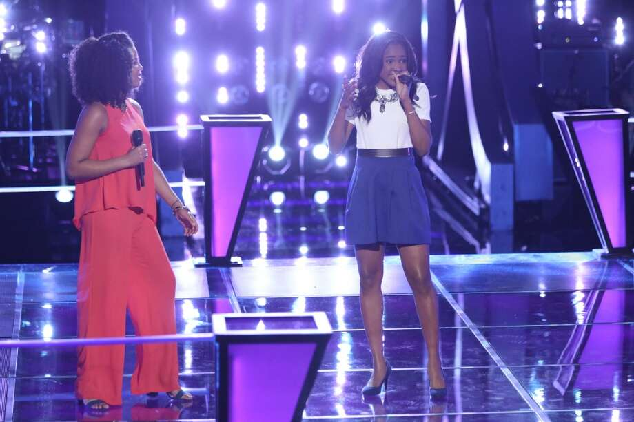"Musicbox / Ayesha Brooks and Deja Hall compete on ""The Voice."" Photo: Tyler Golden/NBC, NBCU Photo Bank Via Getty Images"
