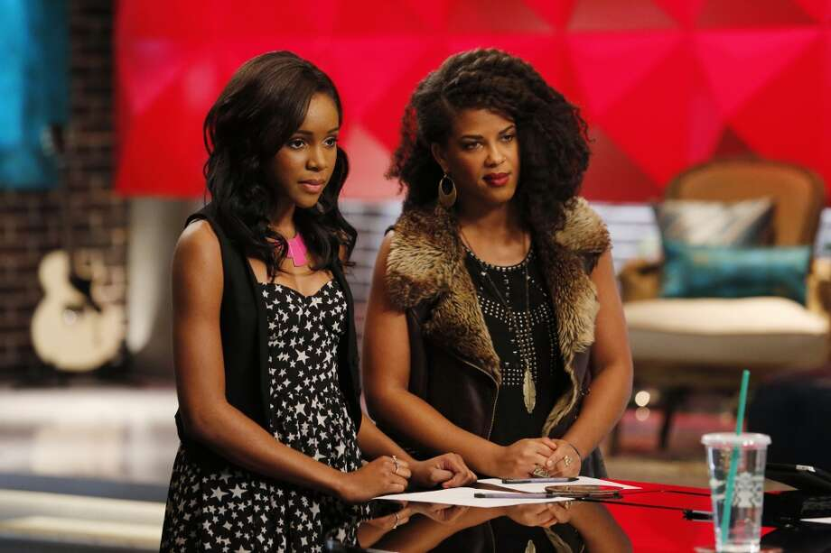 "Deja Hall and Musicbox / Ayesha Brooks are seen in an episode of ""The Voice."" Photo: Tyler Golden/NBC, NBCU Photo Bank Via Getty Images"