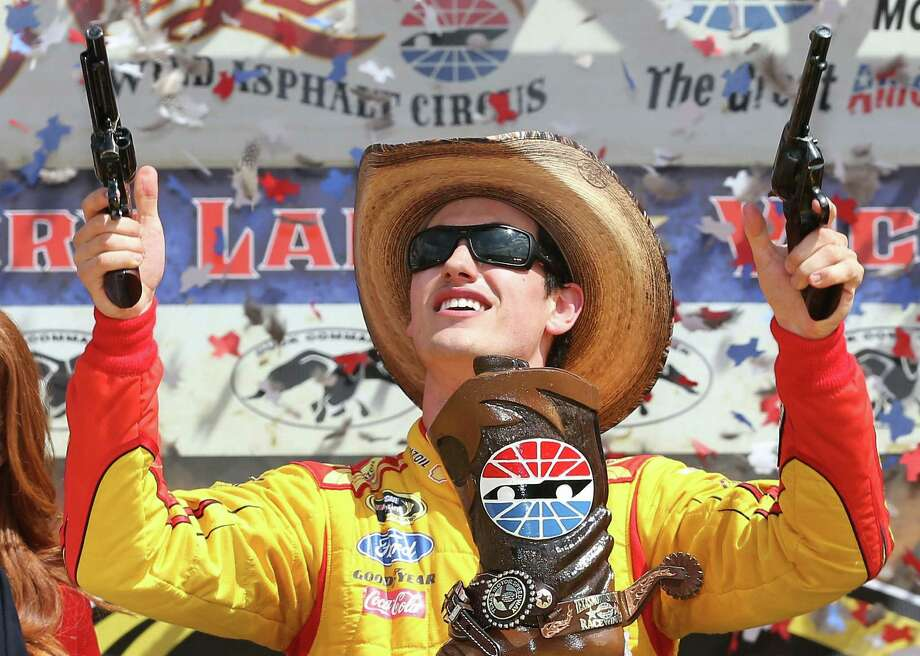 Joey Logano won at Texas Motor Speedway to become the seventh Sprint Cup winner this season. Photo: Chris Graythen / Getty Images / 2014 Getty Images