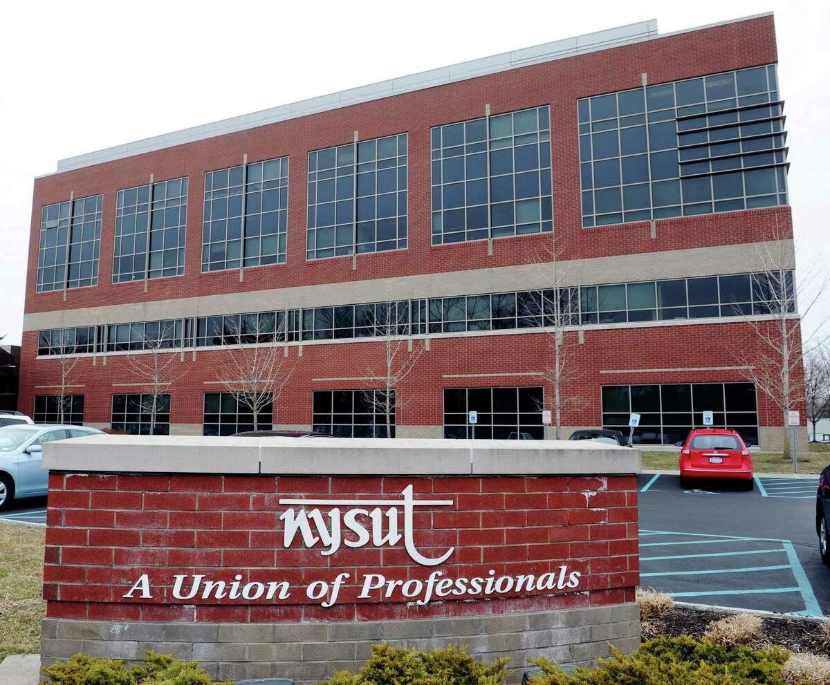 A view of the New York State United Teachers union headquarters on Monday, April 7, 2014, in Latham, N.Y. (Paul Buckowski / Times Union)