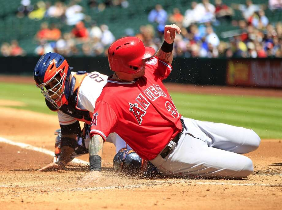 April 7: Angels 9, Astros 1The Halos made frequent trips home in the series finale.Record: 3-4. Photo: Karen Warren, Houston Chronicle