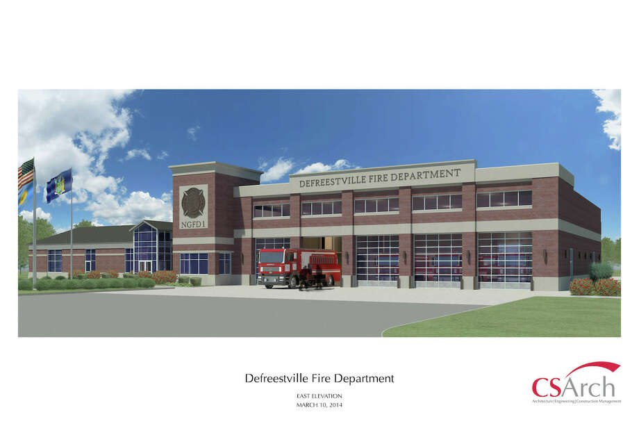 Architectural drawing of a proposed $6.9 million Defreestville Fire Station in North Greenbush. (CS Arch)