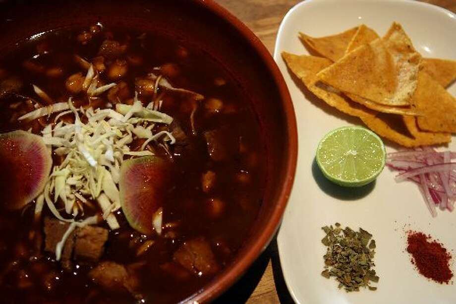 Nopalito: The best posole I've encountered, with hominy, pork shoulder and ancho chile ($13). 306 Broderick St, San Francisco. (415) 437-0303 Photo: The Chronicle