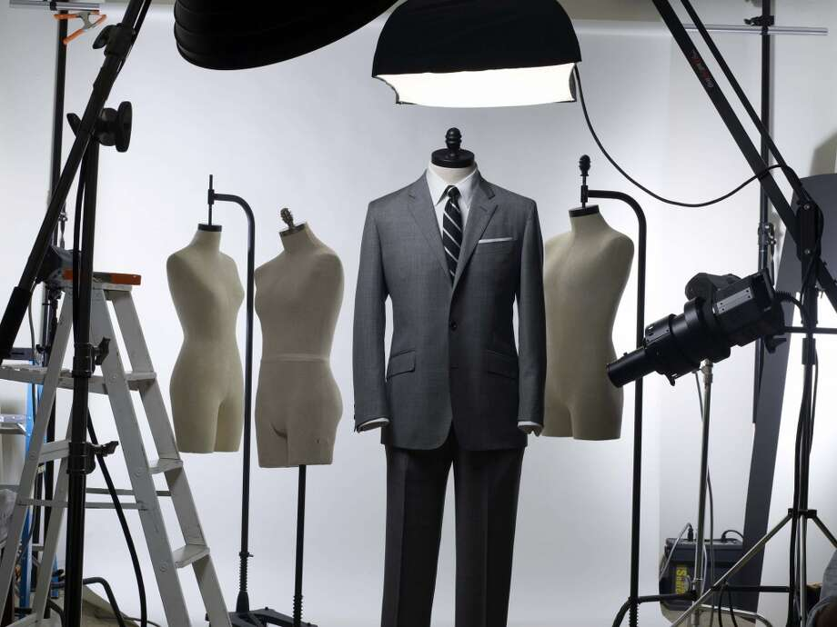 "This product image released by Brooks Brothers their exclusive ""Mad Men"" edition suit which they collaborated on with costume designer Janie Bryant. (AP Photo/Brooks Brothers)**NO SALES** Photo: AP"
