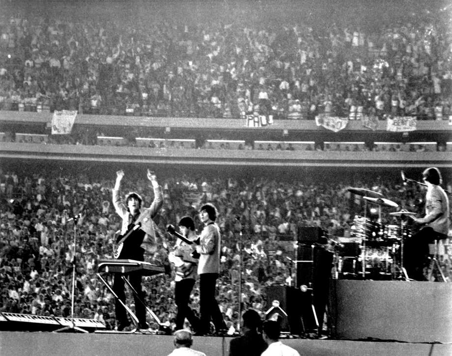 In the news: The Beatles play Shea Stadium (Getty Images) Photo: Michael Ochs Archives