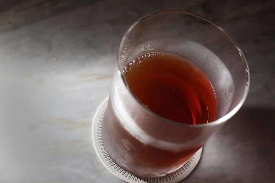 Drink: The Manhattan is Peggy's choice during a long night of bonding with a troubled Don (Getty Images) Photo: Boston Globe, Boston Globe Via Getty Images