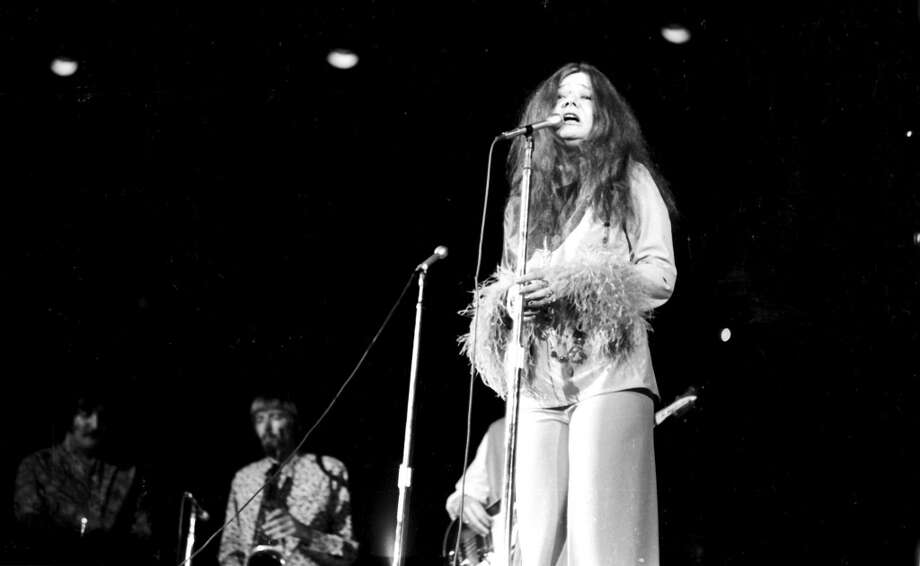 "Musical moment: Janis Joplin's ""A Piece of My Heart,"" as Pete puffs on a joint (Getty Images) Photo: Michael Ochs Archives"