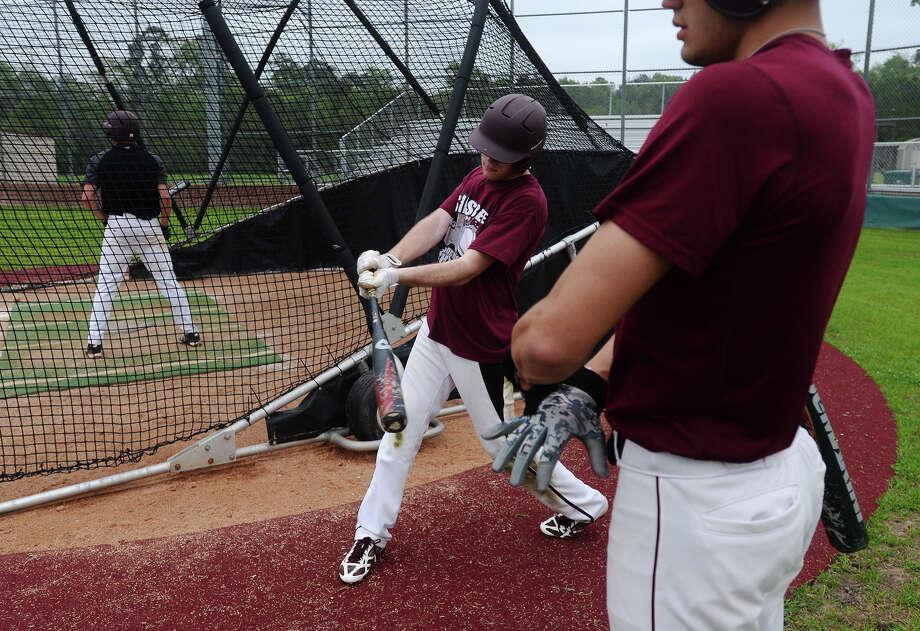 The Silsbee High School baseball team practiced Thursday afternoon. Photo taken Thursday, 4/3/14 Jake Daniels/@JakeD_in_SETX Photo: Jake Daniels / ©2014 The Beaumont Enterprise/Jake Daniels