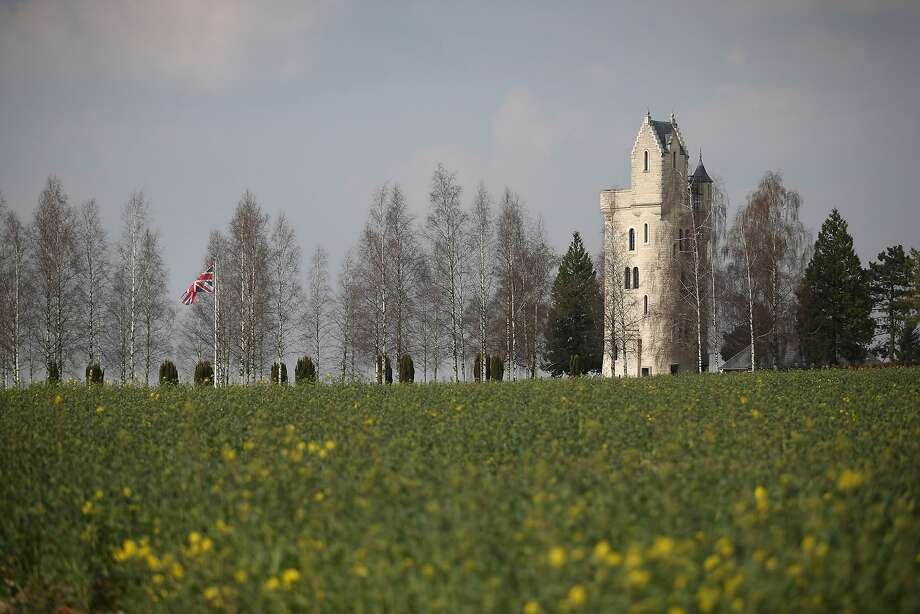 The Ulster Tower memorial to the men of the 36th (Ulster) Division stands on the Somme Battlefield in Thiepval, France. A number of events will be held this year to commemorate the centenary of the start of World War One. Photo: Peter Macdiarmid, Getty Images
