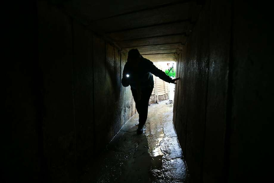 A visitor to Sanctuary Wood Museum Hill 62 enters a trench tunnel near Ypres, Belgium. A number of events will be held this year to commemorate the centenary of the start of World War One. Photo: Peter Macdiarmid, Getty Images