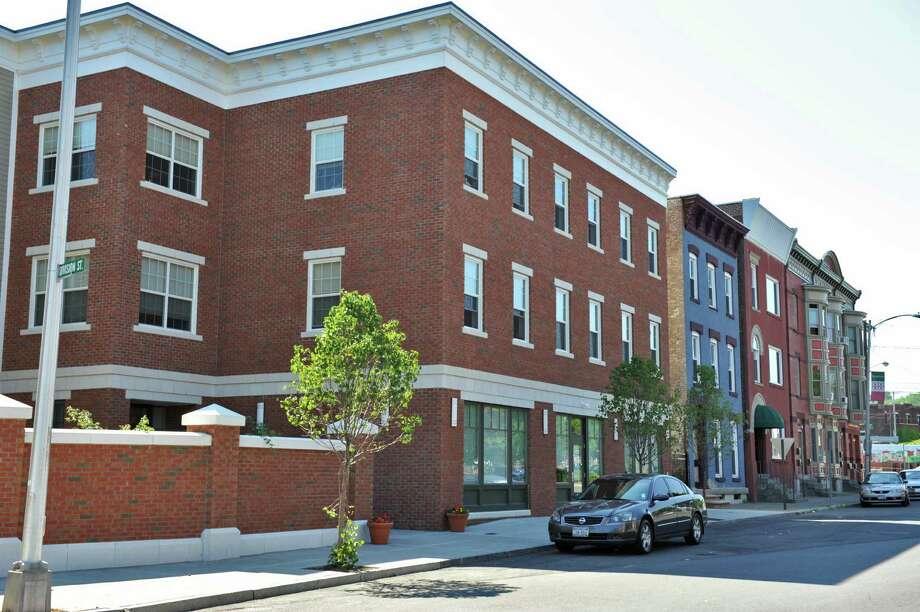 Joseph's House, center, in Troy's Little Italy neighborhood Wednesday July 11, 2012.  (John Carl D'Annibale / Times Union) Photo: John Carl D'Annibale / 00018418A