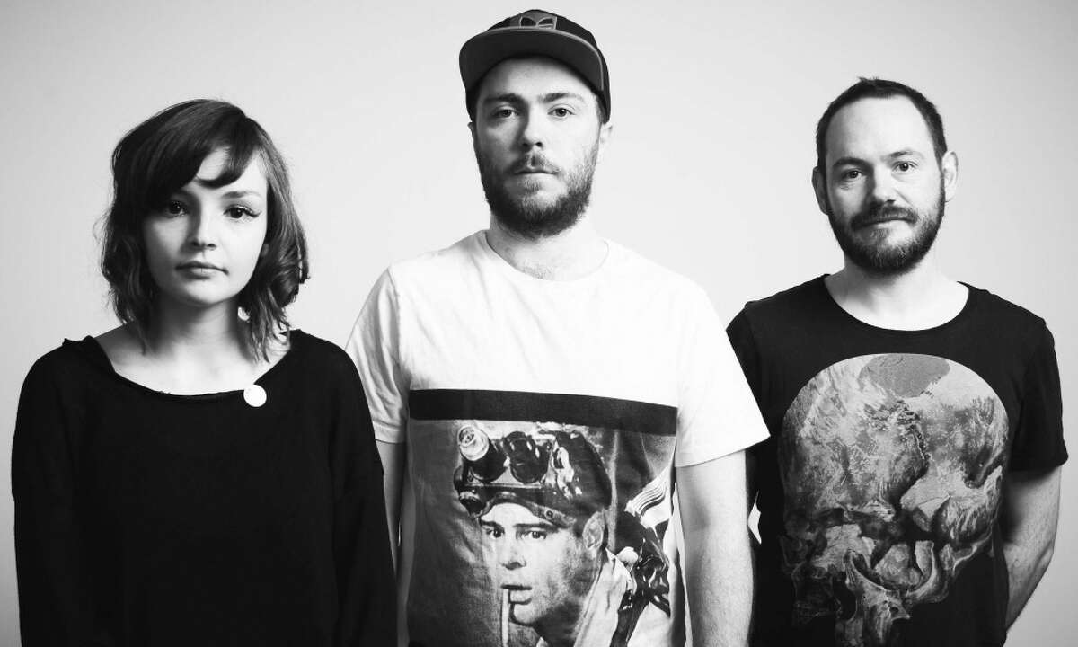 CHVRCHES. From left to right: Lauren Mayberry, Martin Doherty, Iain Cook.