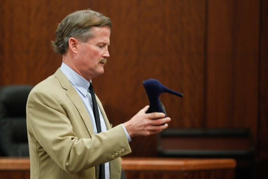 Defense attorney Jack Carroll gives his closing argument during the trial against Ana Lilia Trujillo Tuesday, April 8, 2014, in Houston. Trujillo, 45, is charged with murder, accused of killing her 59-year-old boyfriend, Alf Stefan Andersson, at his Museum District high-rise condominium in June 2013. Photo: Brett Coomer / Houston Chronicle