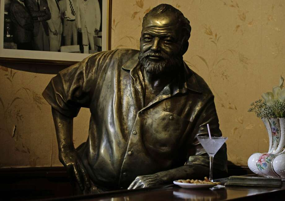 If we all wrote like Ernest Hemingway (this is a bronze statue of him at Floridita bar in Havana), it would be awfully dull. Photo: Desmond Boylan, Reuters